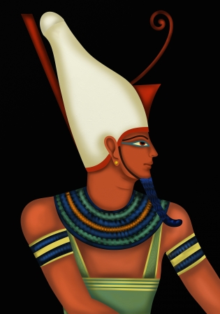 ceremonial makeup: Black Background with Egyptian god