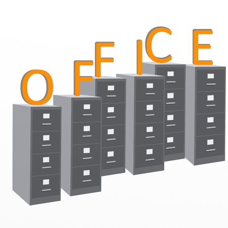classifier: design with gray filing cabinets Office