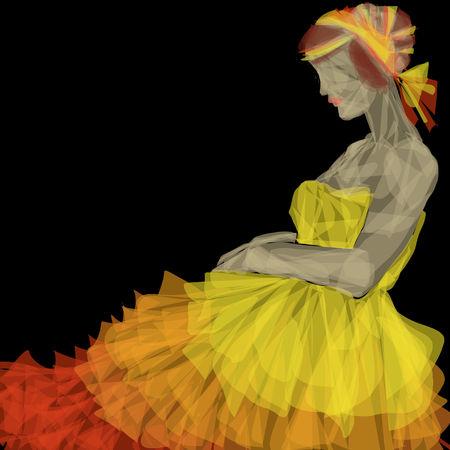 robe de soir�e: robe de soir�e jaune