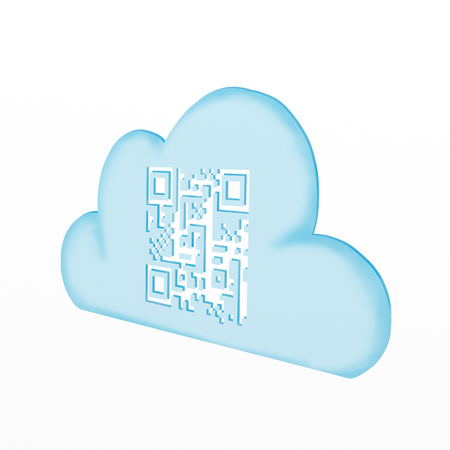 cloud with QR code photo