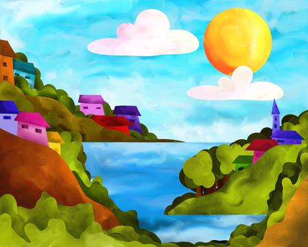 case colorate: isole con case colorate