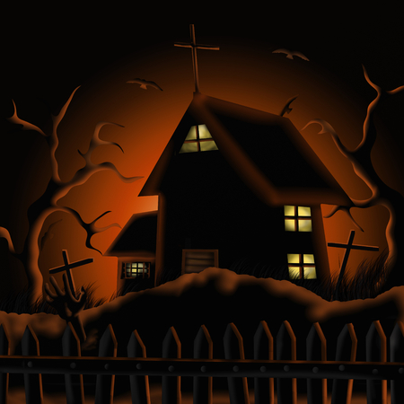 spooky house: old haunted house