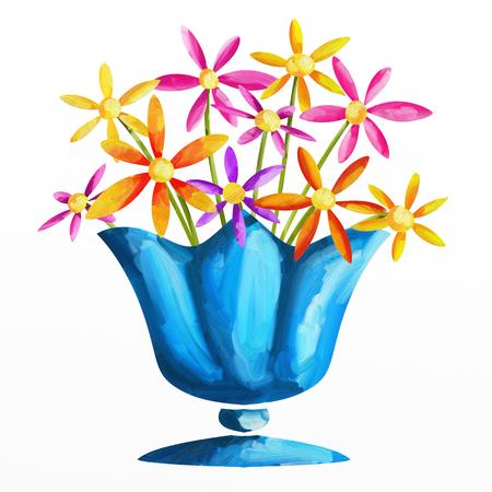 vase: blue vase Stock Photo
