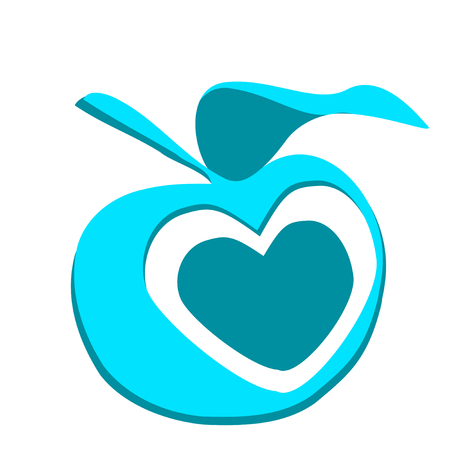 slogans: vector slogans with apple and heart