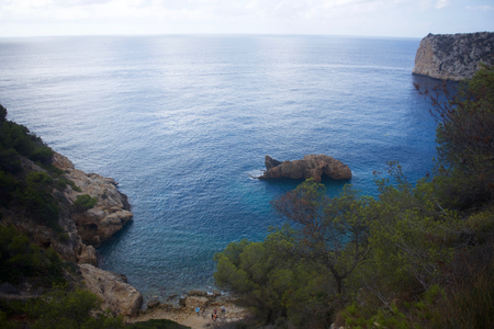 playa blanca: Cala de Ambolo - Javea - Spain Stock Photo