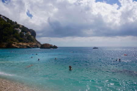 Cala de Ambolo - Javea - Spain Stock Photo