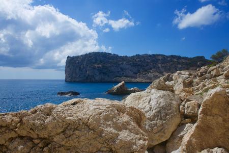 playa: Cala de Ambolo - Javea - Spain Stock Photo