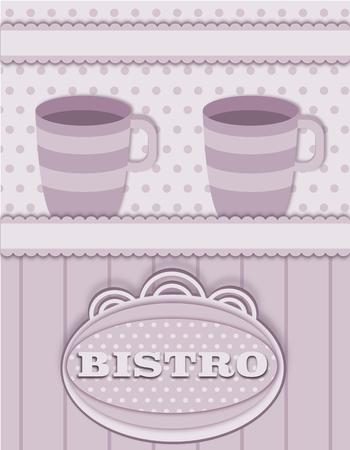 bistro: background with bistro decoration