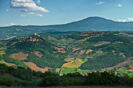 tuscan: Tuscan hills Stock Photo
