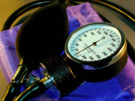 cuffs: A closeup of a blood pressure cuff.