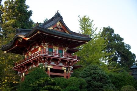japanesse: Japanesse Pagoda at Sunset