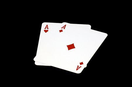 dealt: Pocket Aces Stock Photo