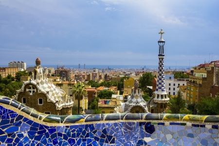 adulation: Barcelona Cityscape with wall