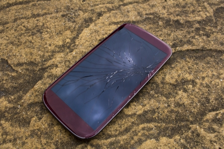 Broken smartphone photo