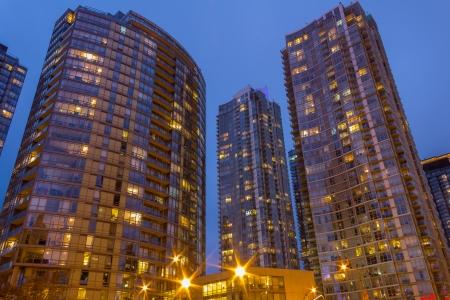 condos: Modern Condos in Canada Stock Photo