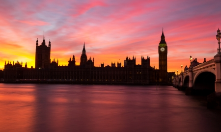 Westminster red sky sunset photo