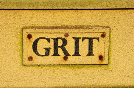 Grit Bin extreme closeup Stock Photo