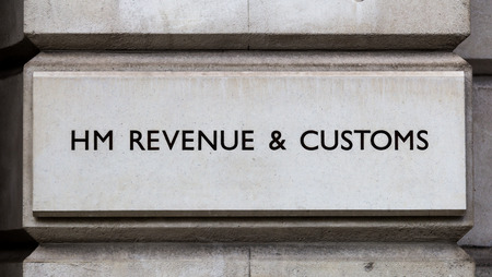 hm: LONDON, UK, 2ND FEB 2014  A sign for HM Revenue and Customs in Central London during the day