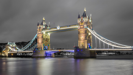 Tower Bridge in Color on a Black  photo