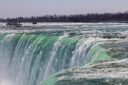 horseshoe falls: Part of the Horseshoe Falls during the day