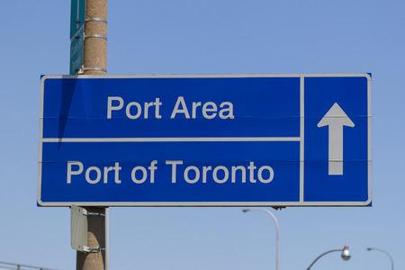 Sign for the Port Area and Port of Toronto photo