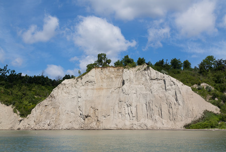cliff face: Part of the Scarborough Bluffs cliff face along Lake Ontario