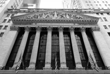 new york stock exchange: NEW YORK CITY, USA - 1ST SEPTEMBER 2014: The outside of the New York Stock Exchange during the day Editorial