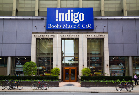 september 9th: TORONTO, CANADA - 9TH SEPTEMBER 2014: The outside of Indigo Bookstore in downtown Toronto during the day