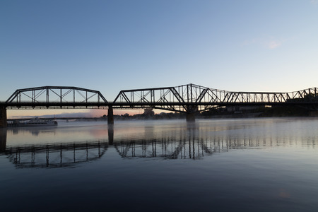 alexandra: Alexandra Bridge in Ottawa in the morning Stock Photo