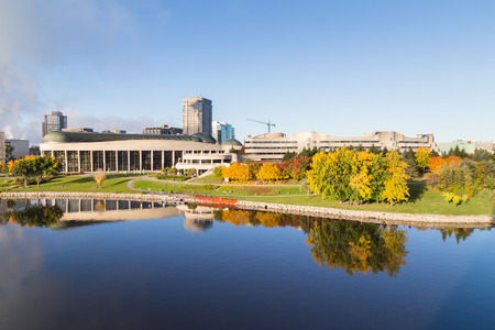 civilisation: OTTAWA, CANADA -  12TH OCTOBER 2014: The outside of the Canadian Museum of Civilisation in the morning Editorial