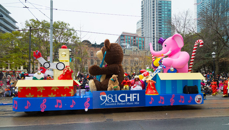 TORONTO, CANADA - 16TH NOVEMBER 2014: A float taking part in the Santa Claus Parade in Toronto