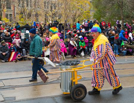 TORONTO, CANADA - 16TH NOVEMBER 2014: Participants taking part in the Santa Claus Parade in Toronto