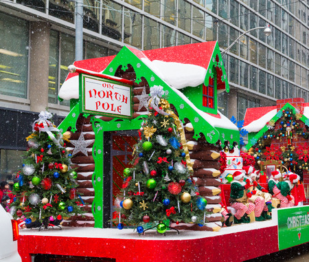 TORONTO, CANADA - 16TH NOVEMBER 2014: A float taking part in the Santa Clause Parade in Toronto