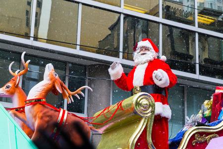 TORONTO, CANADA - 16TH NOVEMBER 2014: Participants taking part in the Santa Claus Parade in Toronto