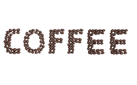 cns: The word Coffee written with Coffee Beans