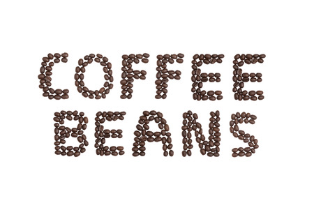 cns: The word COFFEE BEANS written with coffee beans