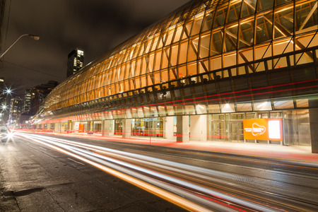 art gallery: TORONTO, CANADA - 21ST JANUARY 2015: The outside of the Art Gallery of Ontario with Traffic going past