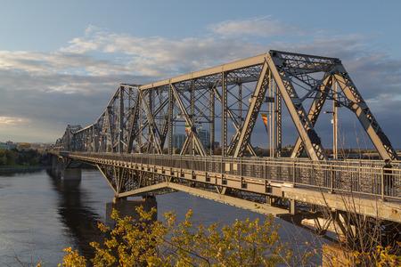 alexandra: OTTAWA, CANADA - 11TH OCTOBER 2014: Alexandra Bridge in Ottawa during the day