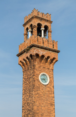 Murano: A view of the Bell and Clock Tower in Murano