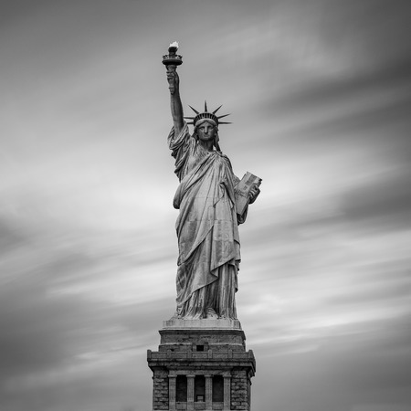 liberty statue: The Statue of Liberty in New York City, USA. Color image. Stock Photo