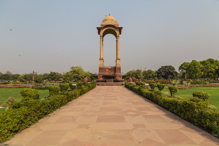 india gate: The Canopy located near India Gate in Delhi during the day.