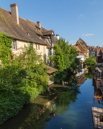 COLMAR, FRANCE - 30TH JULY 2016: Views along the River Lauch in Colmar in the morning
