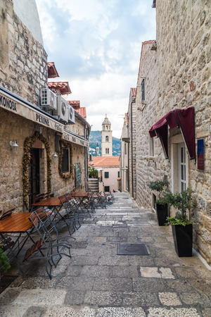 11th: DUBROVNIK, CROATIA - 11TH AUGUST 2016: A view of streets of Dubrovnik Old Town in the morning.