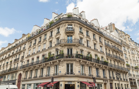 wierd: PARIS, FRANCE - 29TH JULY 2016: The outside of typical architecture in central Paris during the day