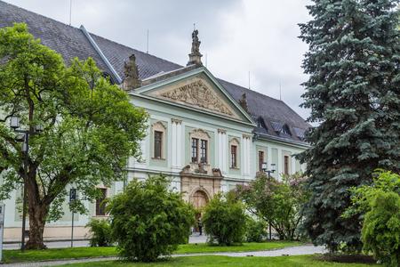 OLOMOUC, CZECH REPUBLIC - 27TH APRIL 2017:  Old colourful architecture in Olomouc Czech Republic. Editorial