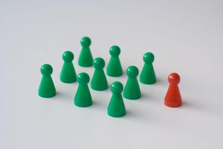 leadership an teambuilding Stock Photo