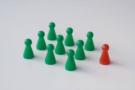 mensch: leadership an teambuilding Stock Photo