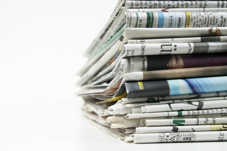 newspaper: pile of newspaper Stock Photo