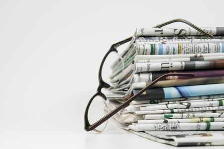 pile of newspaper Stock Photo