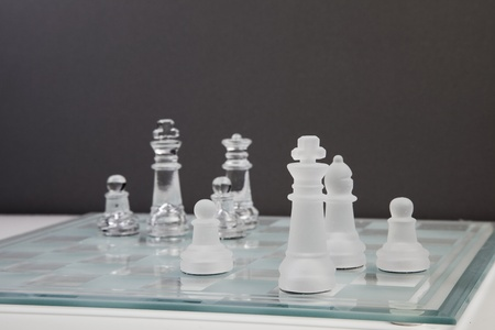 transparency chess game Stock Photo